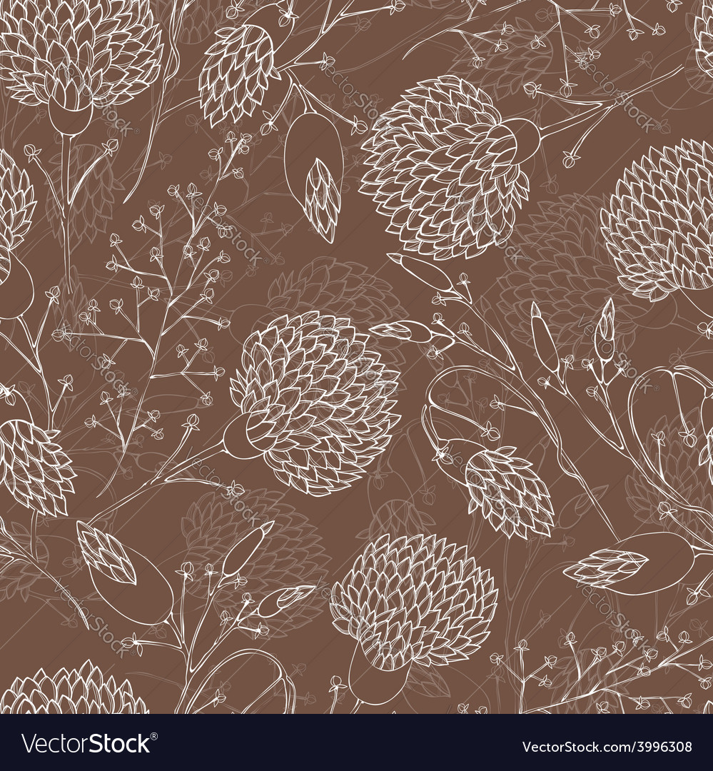 Seamless floral pattern with chrysanthemum vector | Price: 1 Credit (USD $1)