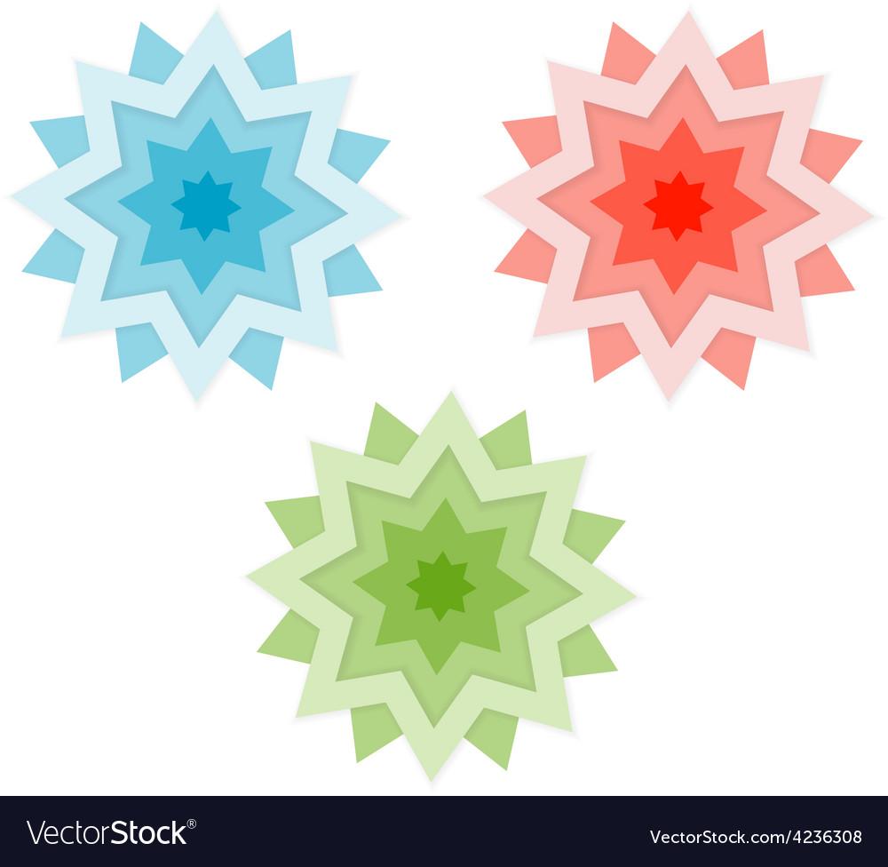 Three stars vector | Price: 3 Credit (USD $3)