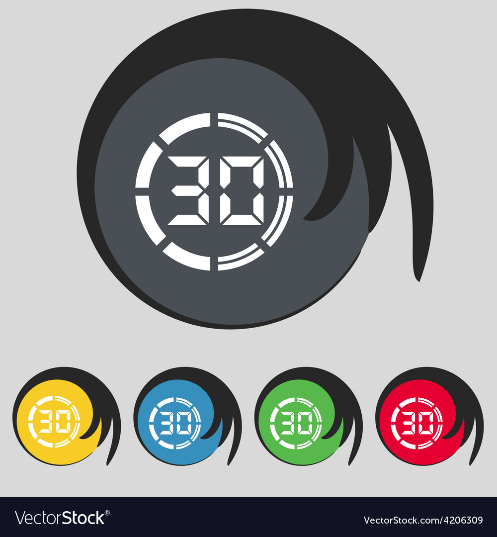 30 second stopwatch icon sign symbol on five vector   Price: 1 Credit (USD $1)