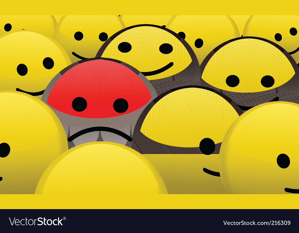 Alone in the crowd vector | Price: 1 Credit (USD $1)