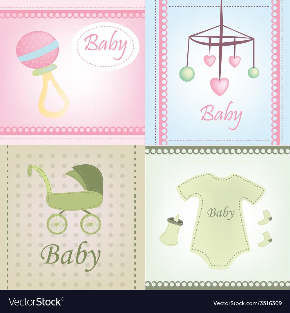 Baby document design vector | Price: 1 Credit (USD $1)