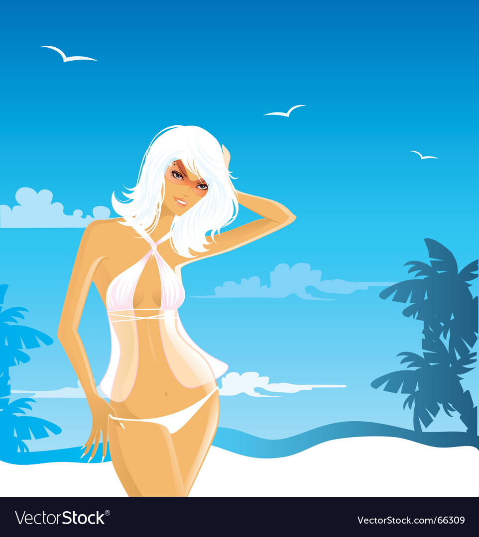 Beach babe vector | Price: 5 Credit (USD $5)