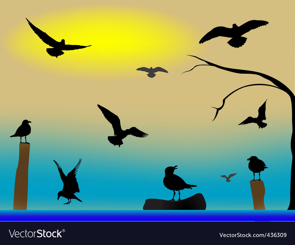 Birds paradise vector | Price: 1 Credit (USD $1)