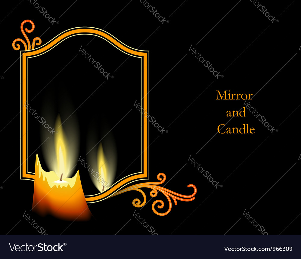 Candle on black vector | Price: 1 Credit (USD $1)