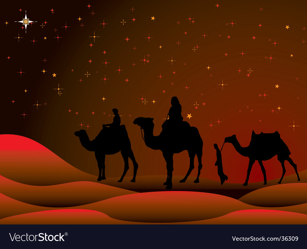 Christmas journey vector | Price: 1 Credit (USD $1)