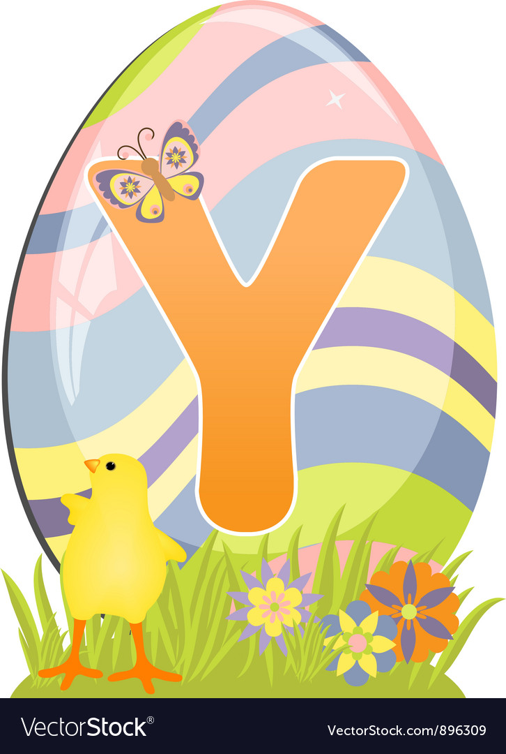 Cute initial letter y vector | Price: 1 Credit (USD $1)