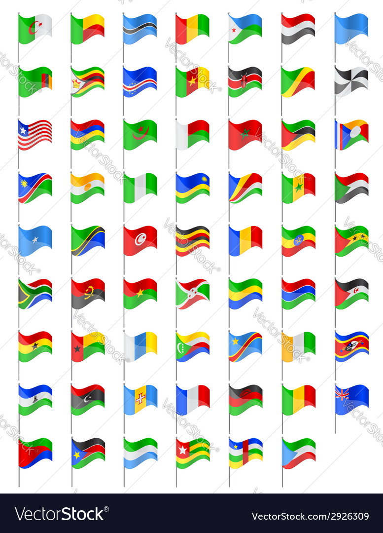 Flags of africa countries vector | Price: 1 Credit (USD $1)