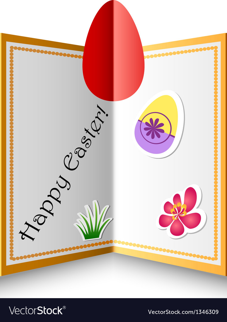 Folded easter card vector | Price: 1 Credit (USD $1)