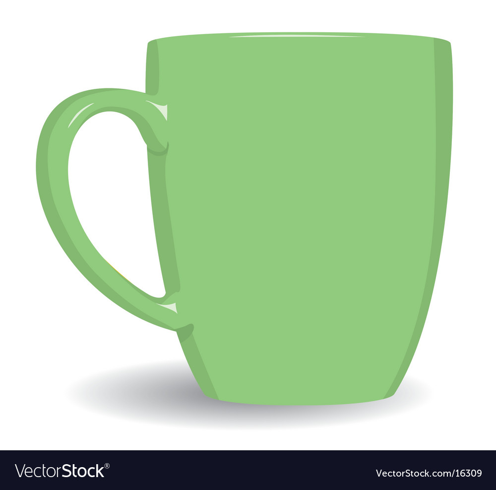 Green mug on white background vector | Price: 1 Credit (USD $1)