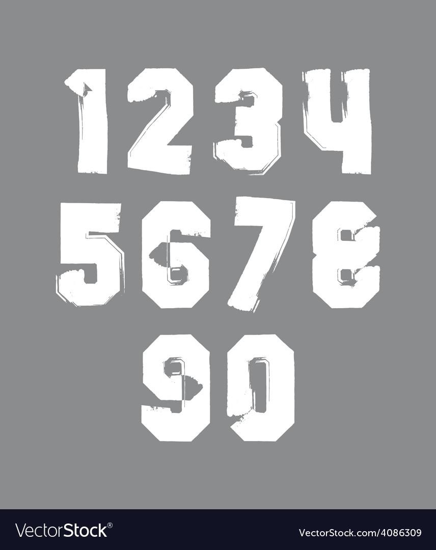 Handwritten contemporary digit set doddle vector | Price: 1 Credit (USD $1)