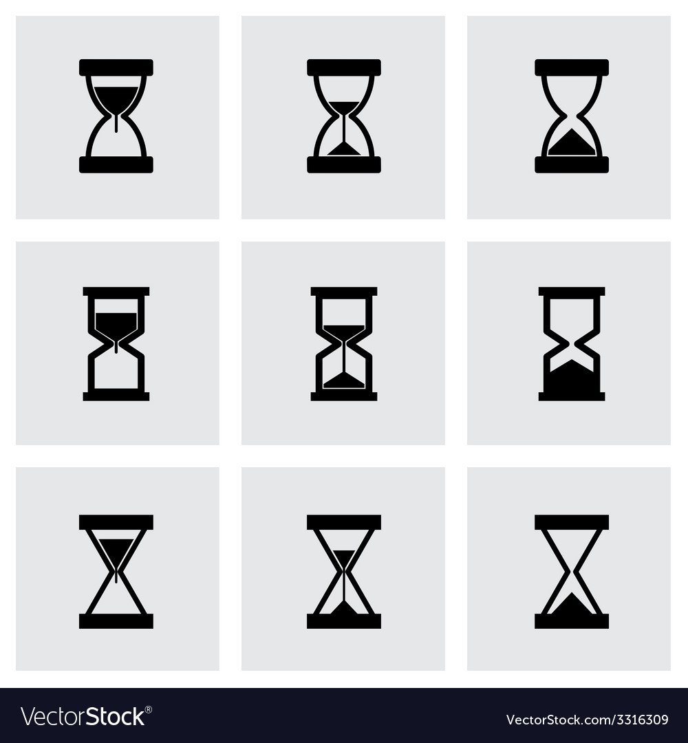 Hourglass icon set vector | Price: 1 Credit (USD $1)