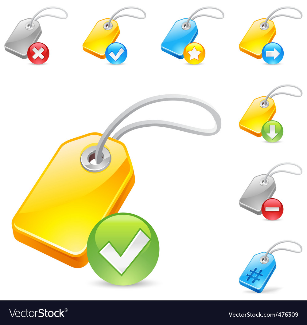 Keyword tag icon vector | Price: 1 Credit (USD $1)