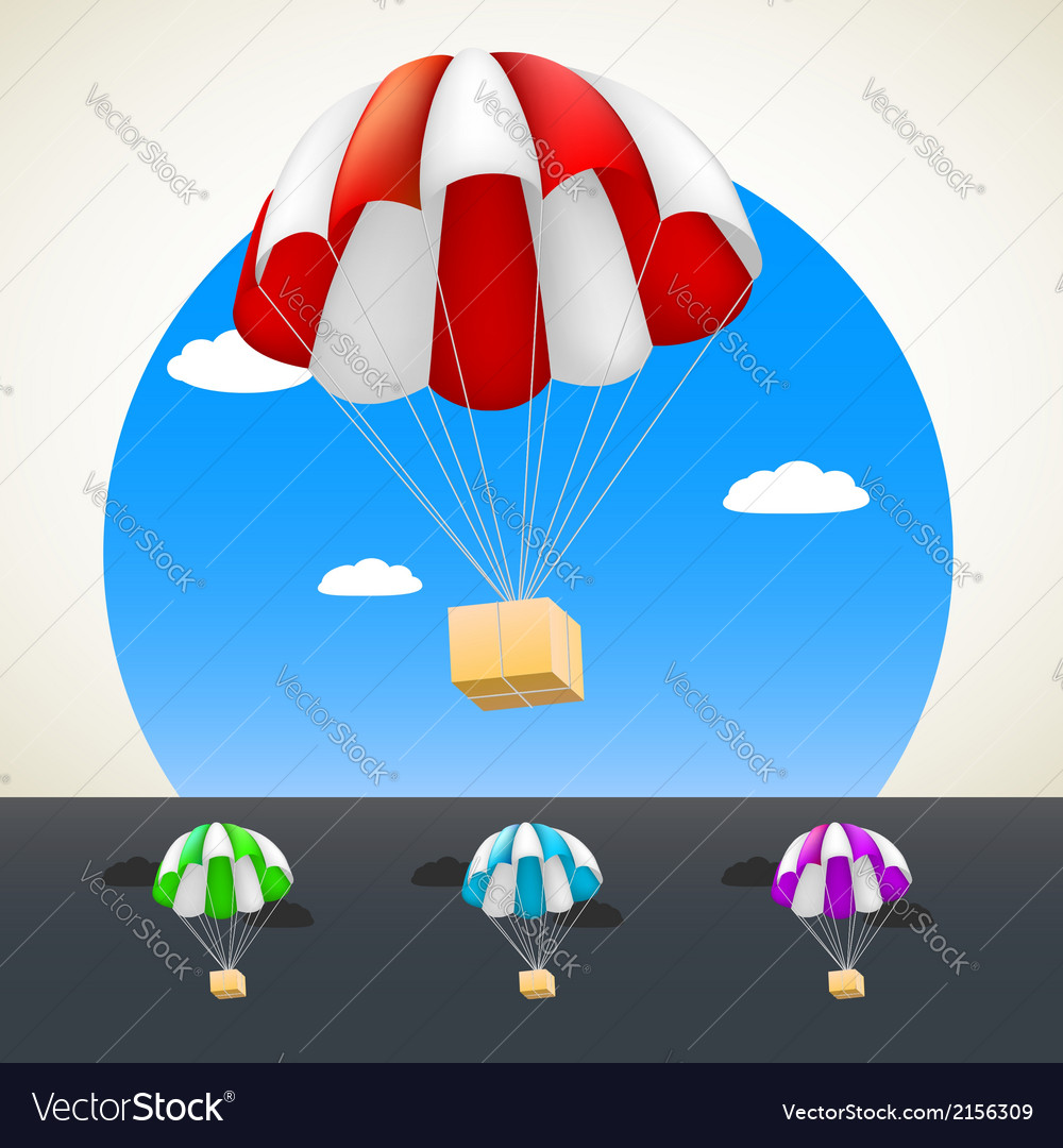 Parachute with sending vector | Price: 1 Credit (USD $1)