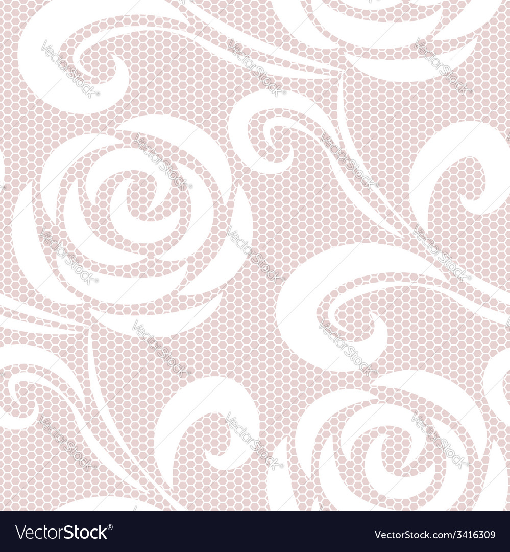 Seamless retro roses lace pattern vector | Price: 1 Credit (USD $1)