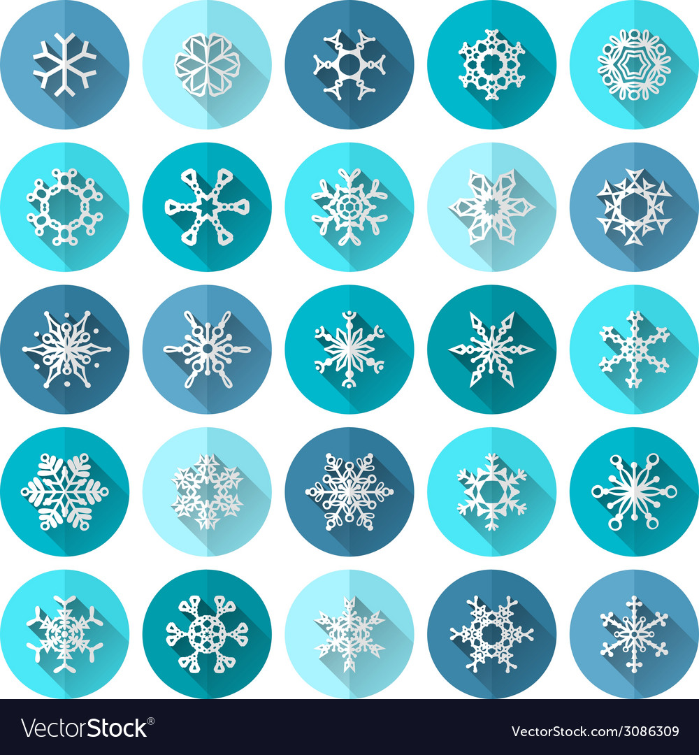 Set of round flat icons vector | Price: 1 Credit (USD $1)