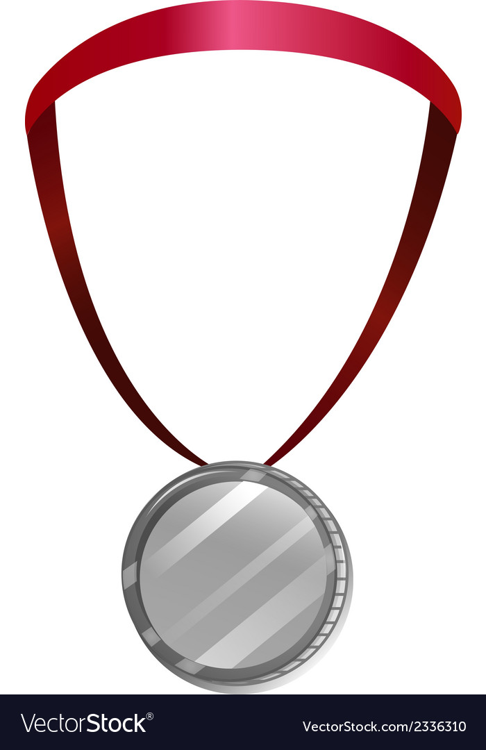 A medal with a red neck lace vector | Price: 1 Credit (USD $1)