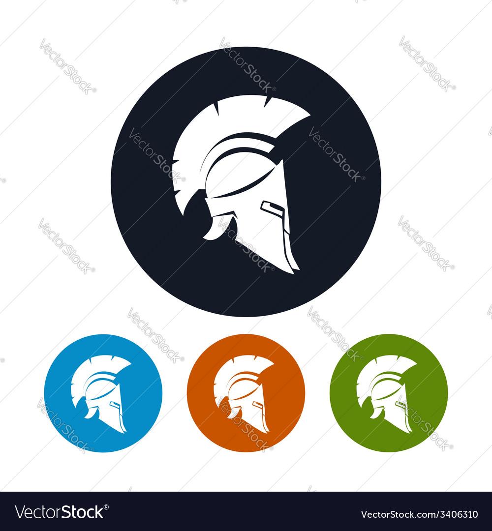 Antique helmet icon vector | Price: 1 Credit (USD $1)