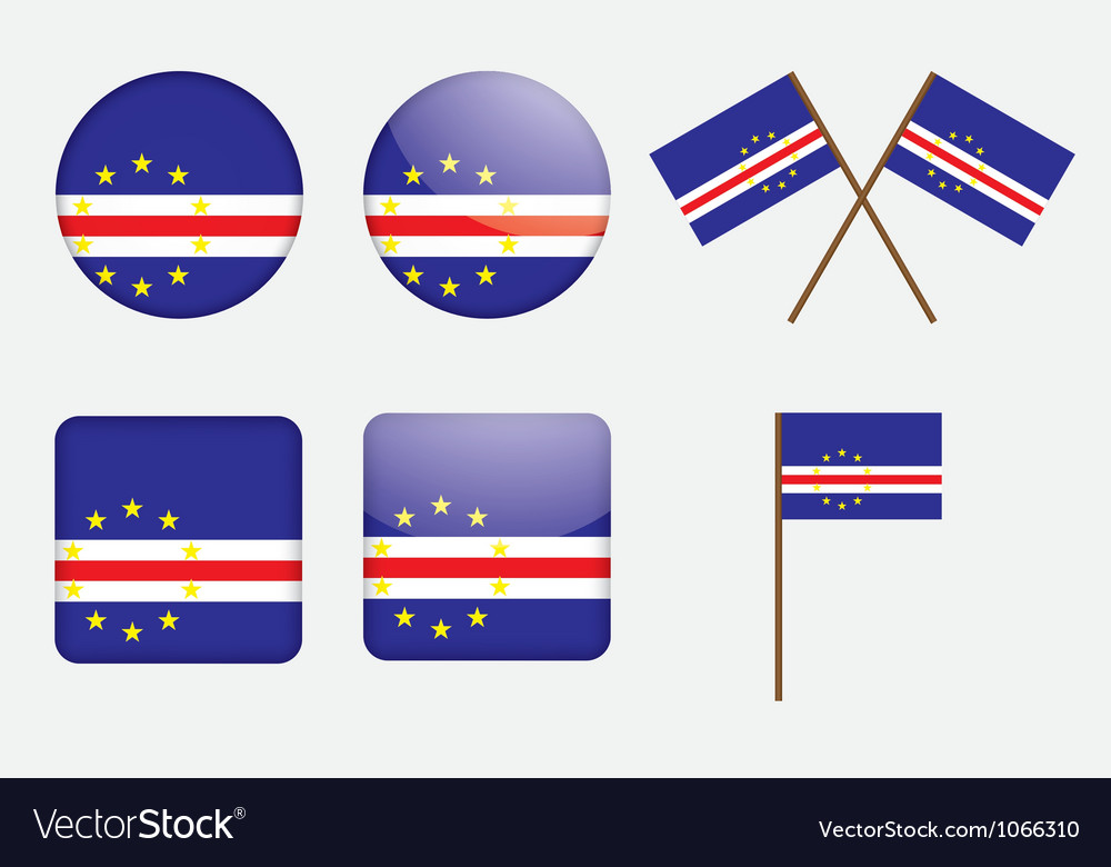 Badges with flag of cape verde vector | Price: 1 Credit (USD $1)