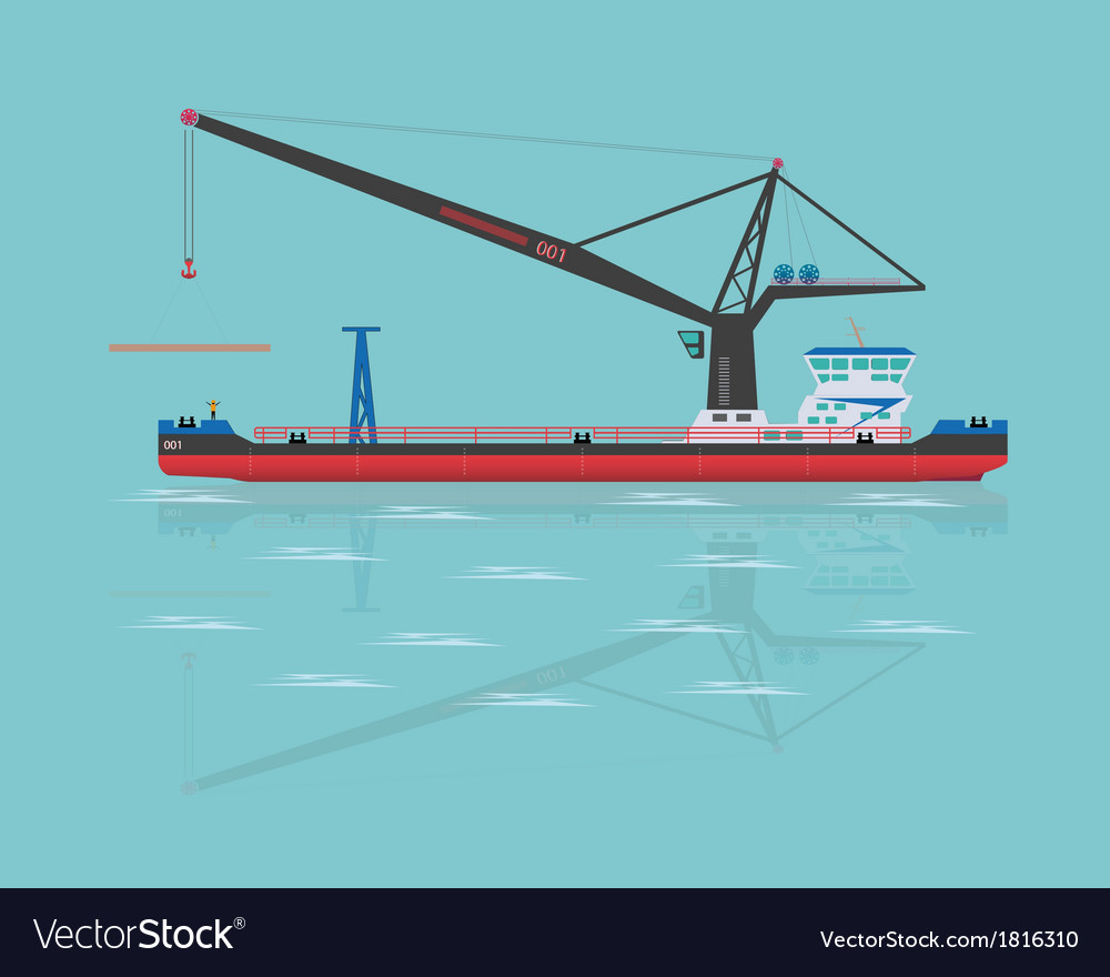 Black floating crane vector | Price: 1 Credit (USD $1)