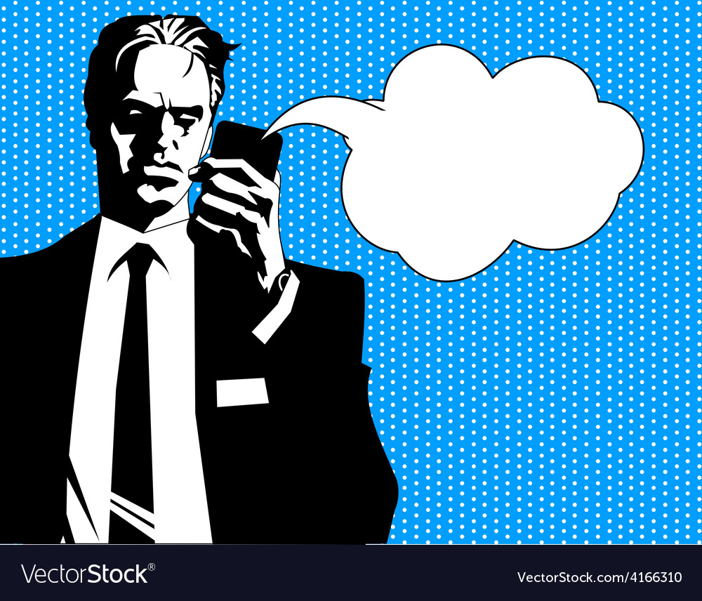 Businessman talking vector | Price: 1 Credit (USD $1)