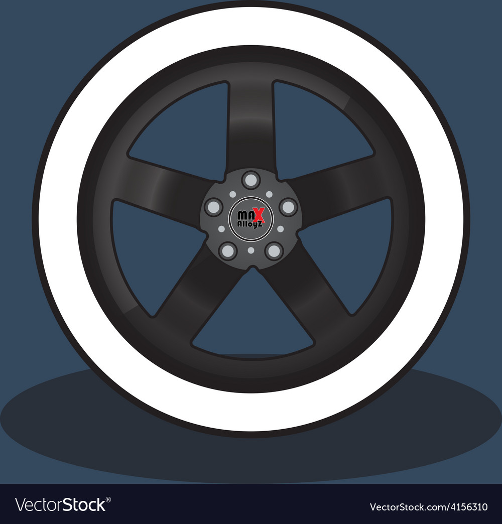 Car rim and tire vector | Price: 1 Credit (USD $1)