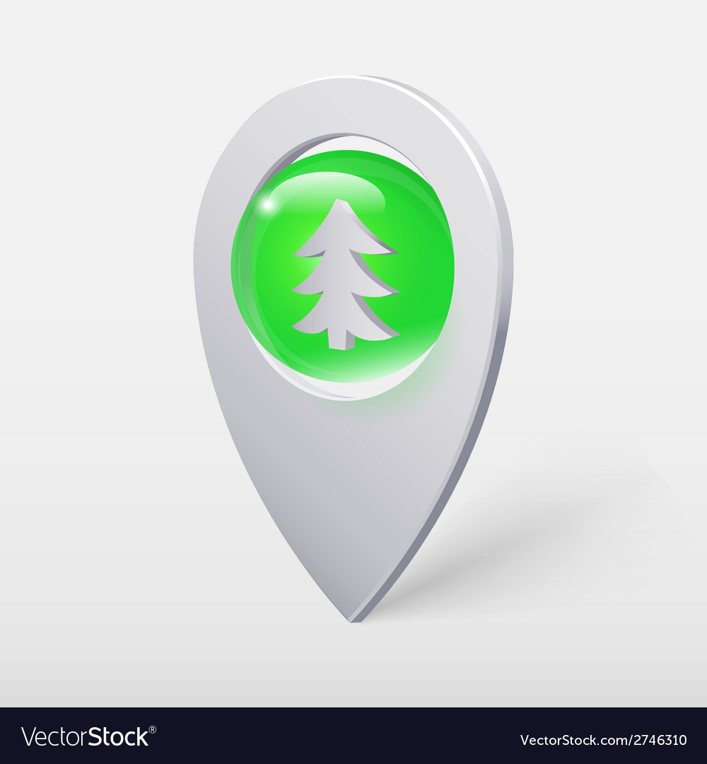 Christmas tree crystal ball pointer or pin vector | Price: 1 Credit (USD $1)