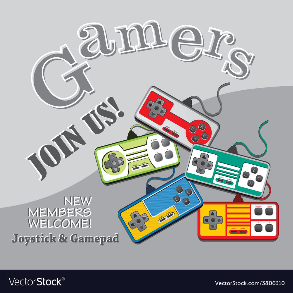 Gaming theme vector | Price: 1 Credit (USD $1)
