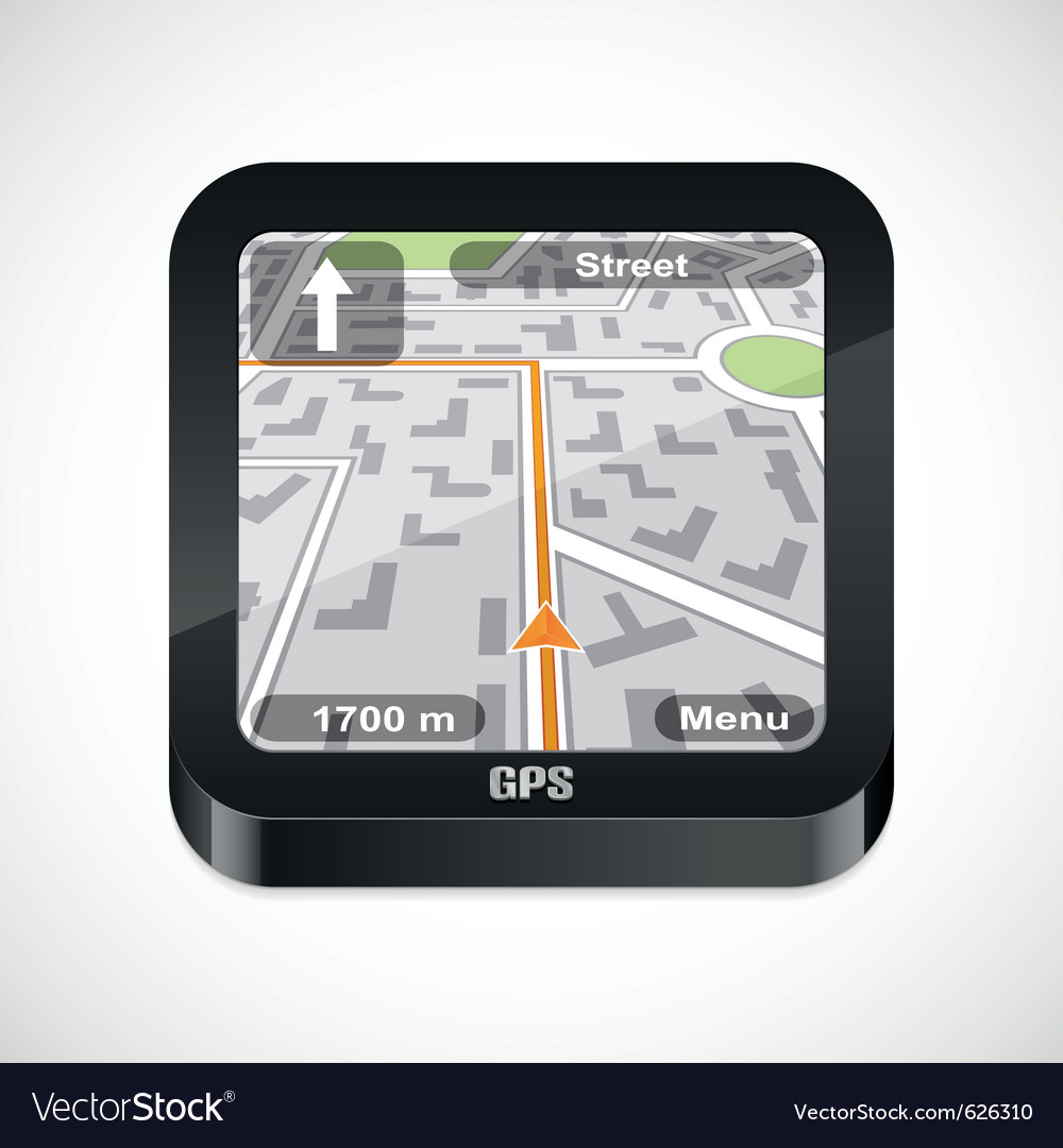 Gps navigator icon vector | Price: 1 Credit (USD $1)