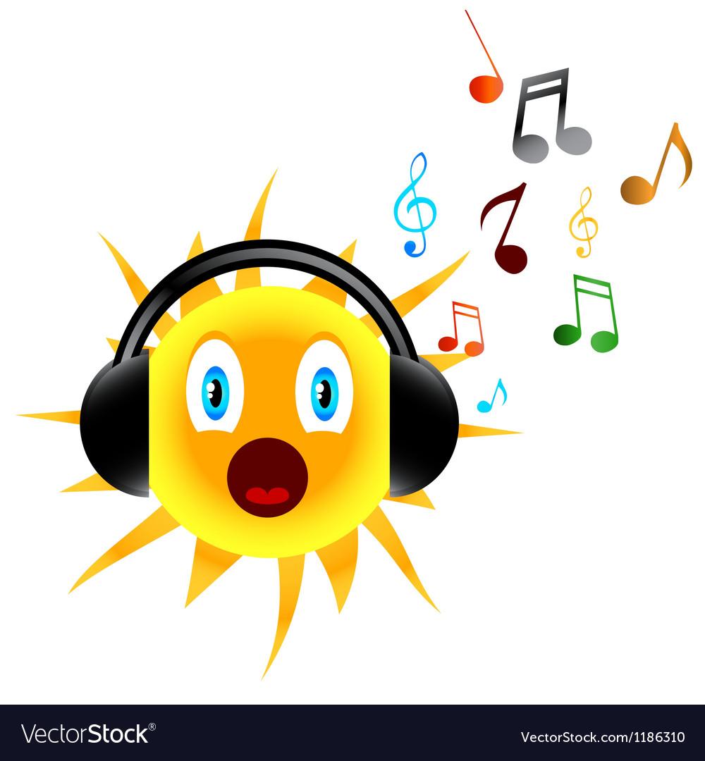 Music sun vector   Price: 1 Credit (USD $1)