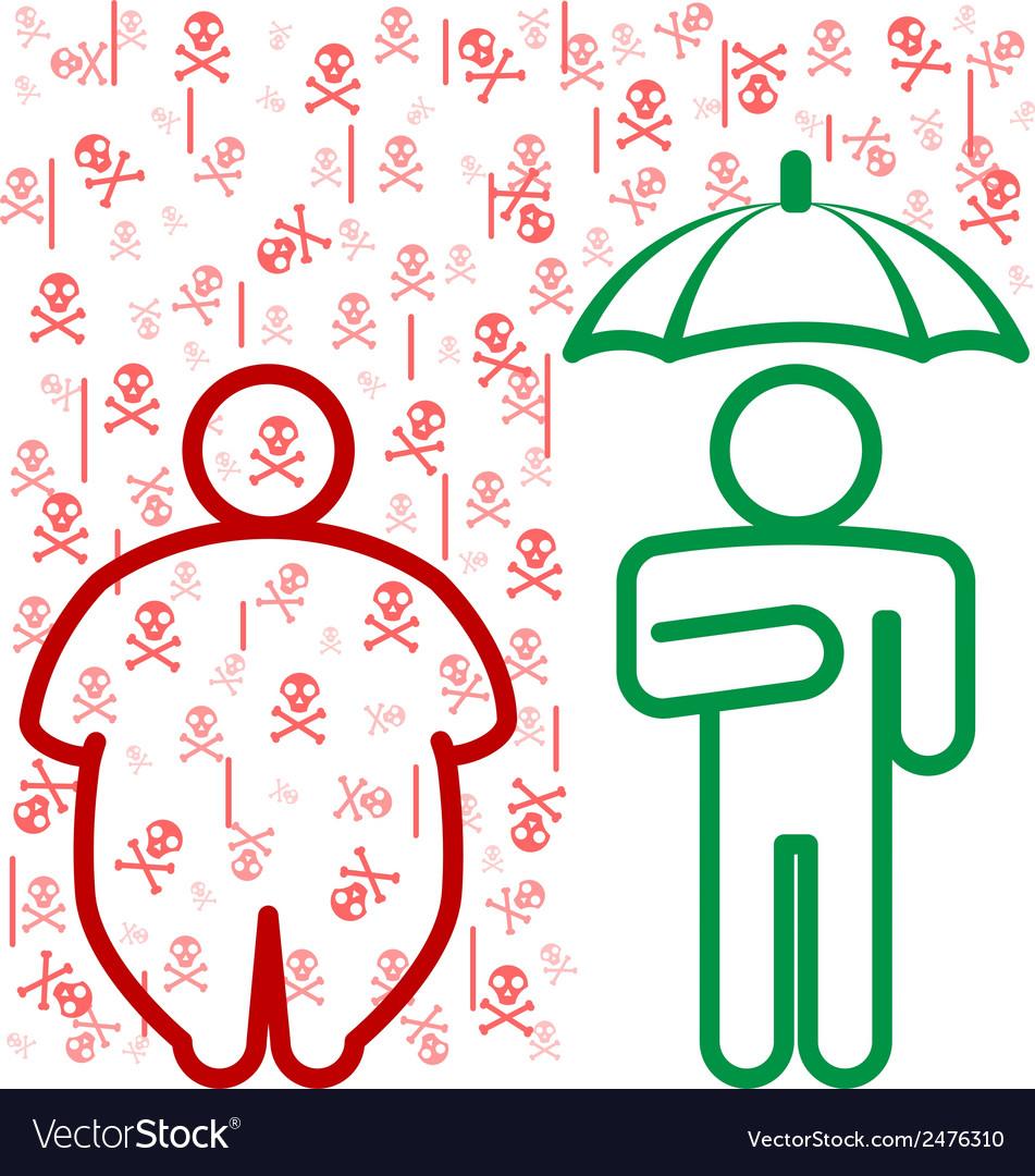 Obesity dangers vector   Price: 1 Credit (USD $1)