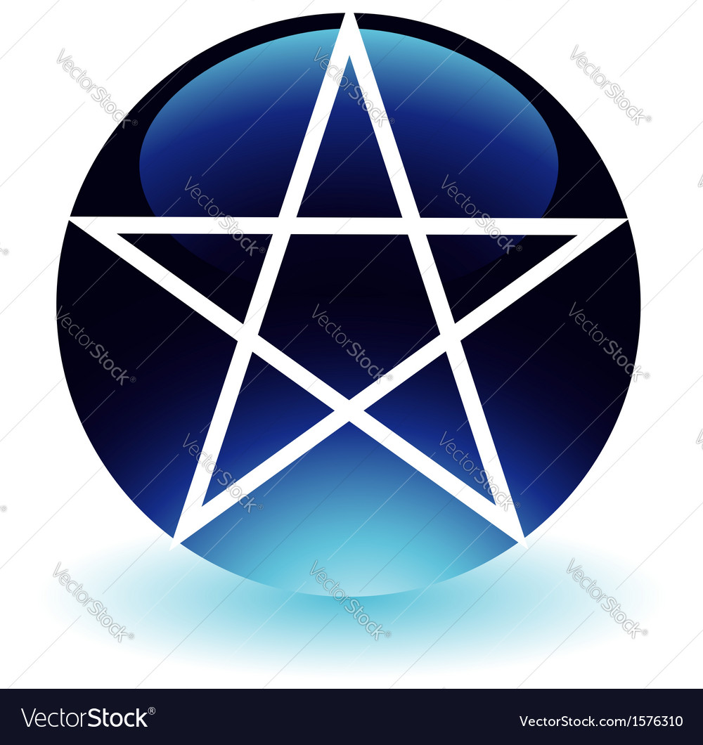 Pentagram- religious symbol of satanism vector | Price: 1 Credit (USD $1)