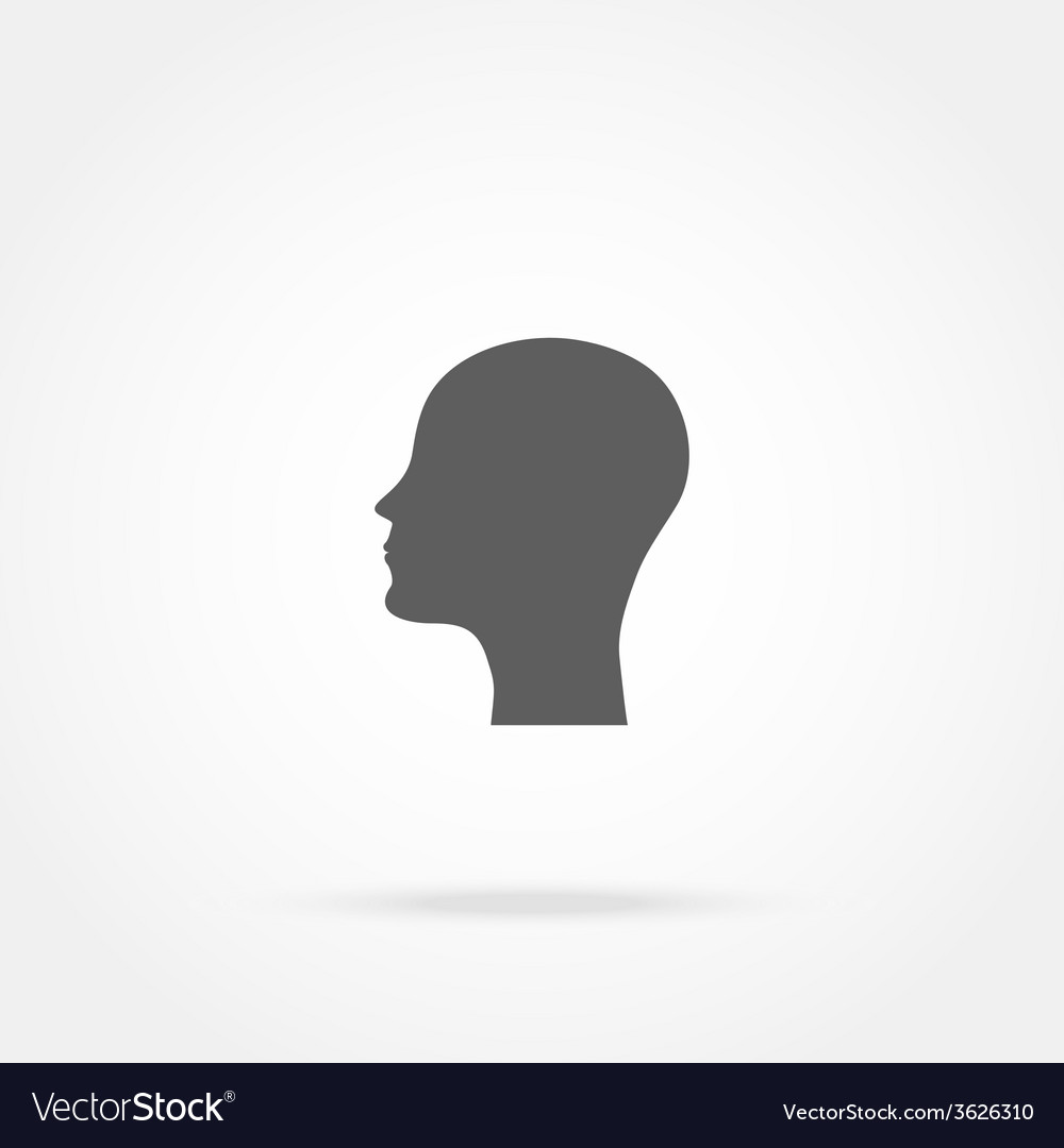 Silhouette of a man head icon vector | Price: 1 Credit (USD $1)