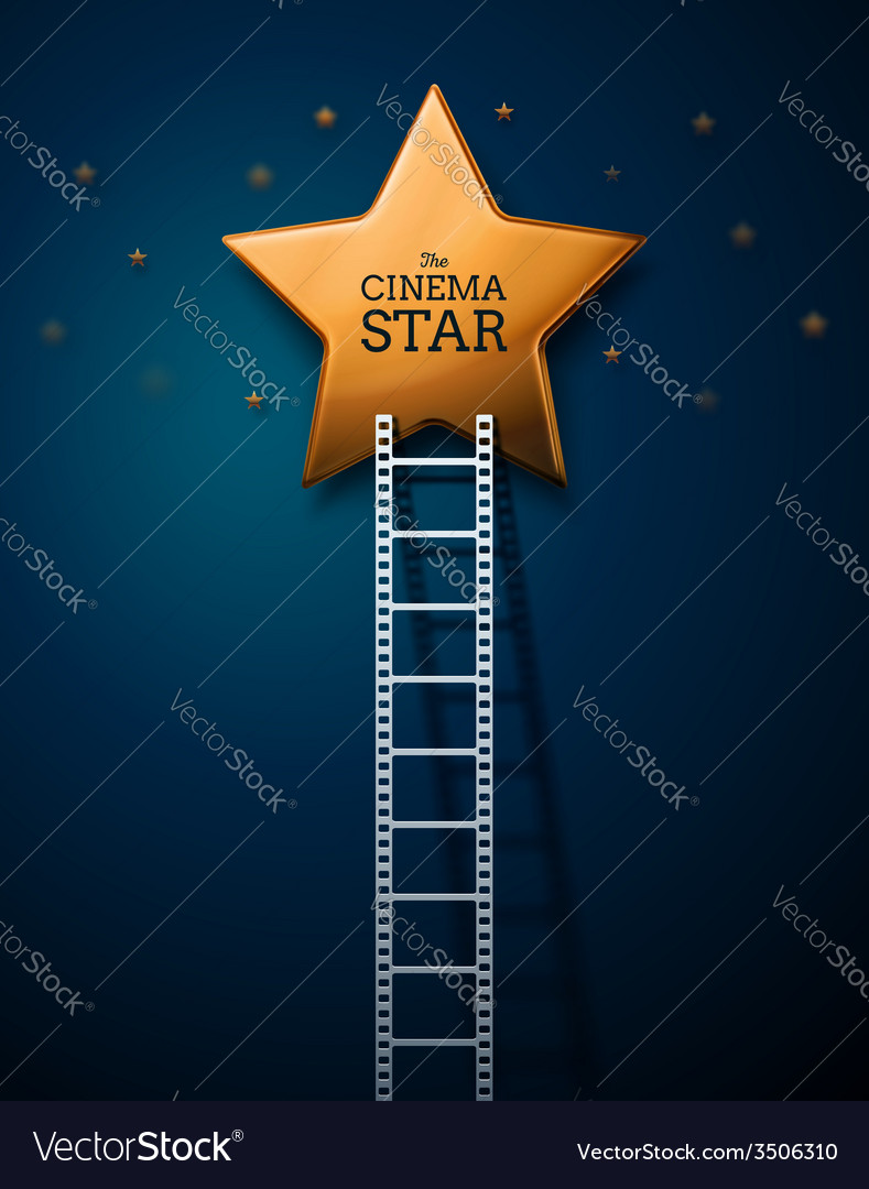 Way to the stars of cinema vector | Price: 1 Credit (USD $1)