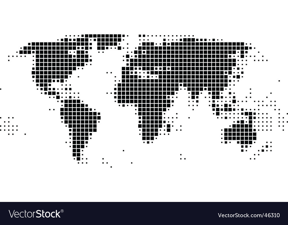 World map of squares vector | Price: 1 Credit (USD $1)