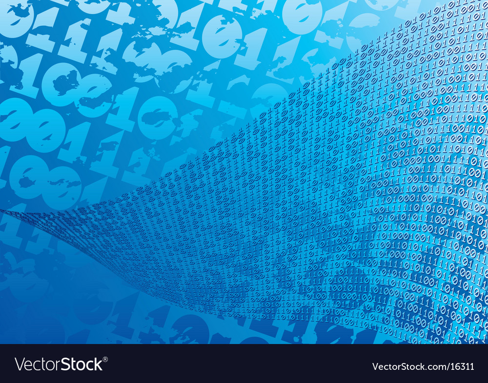 Abstract blue background digits vector | Price: 1 Credit (USD $1)