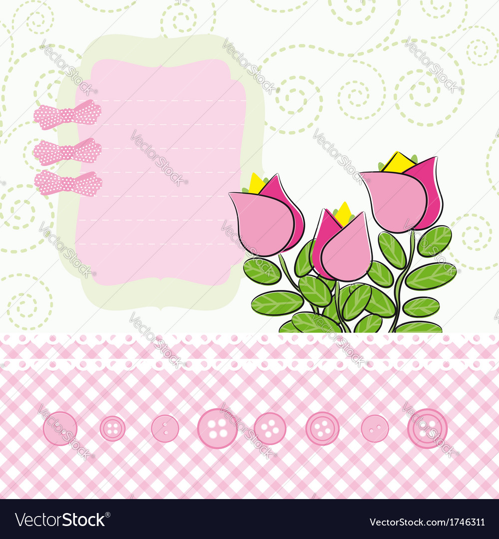Abstract flowers background with place for your vector | Price: 1 Credit (USD $1)