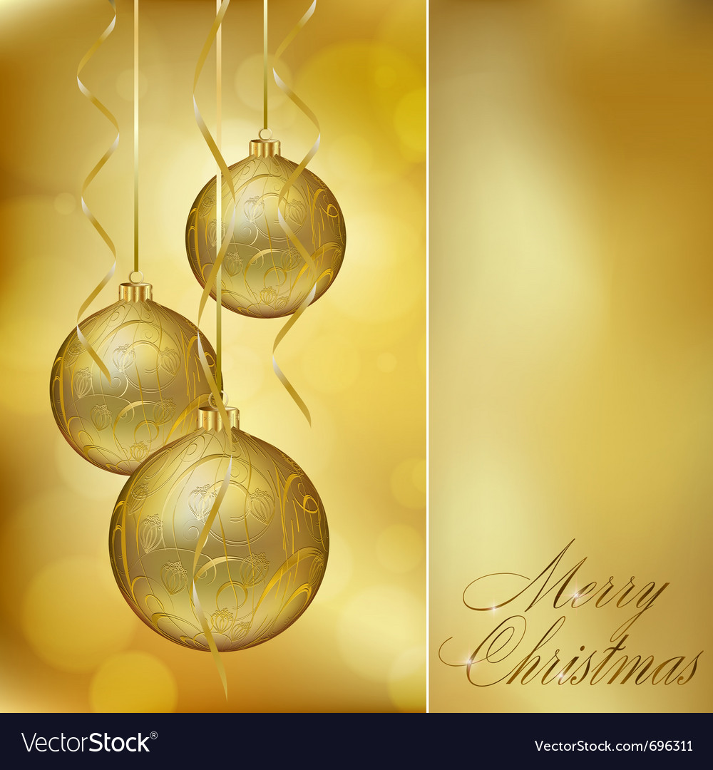 Abstract golden christmas postcard vector | Price: 1 Credit (USD $1)