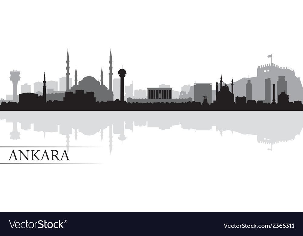 Ankara city skyline silhouette background vector | Price: 1 Credit (USD $1)