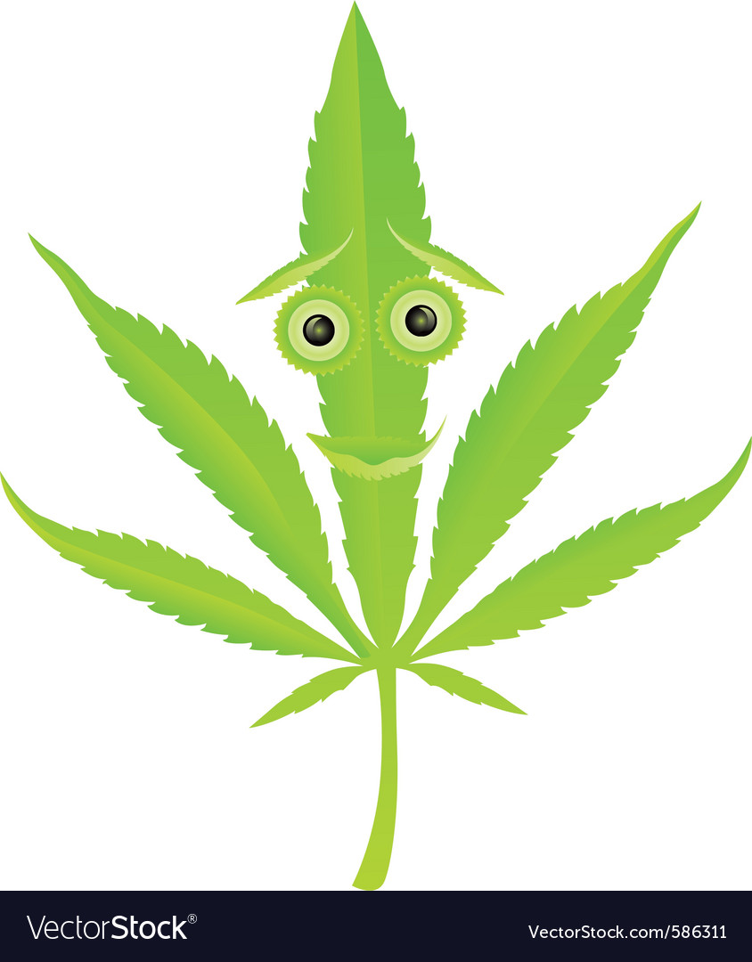 Cannabis leaf character vector | Price: 1 Credit (USD $1)