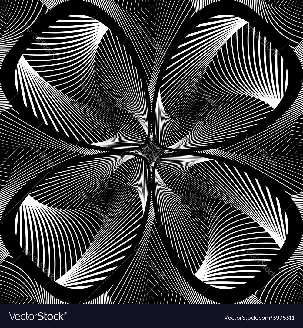 Design monochrome decorative flower background vector | Price: 1 Credit (USD $1)