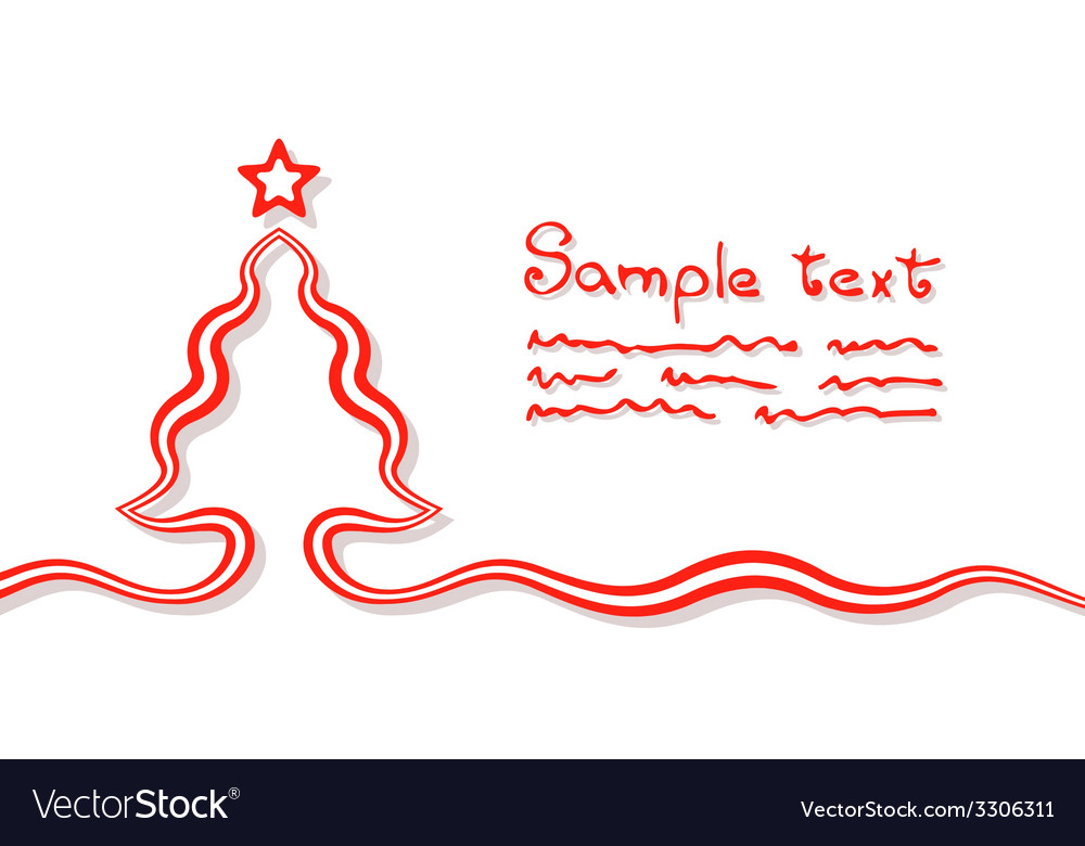 Elementary christmas card vector | Price: 1 Credit (USD $1)
