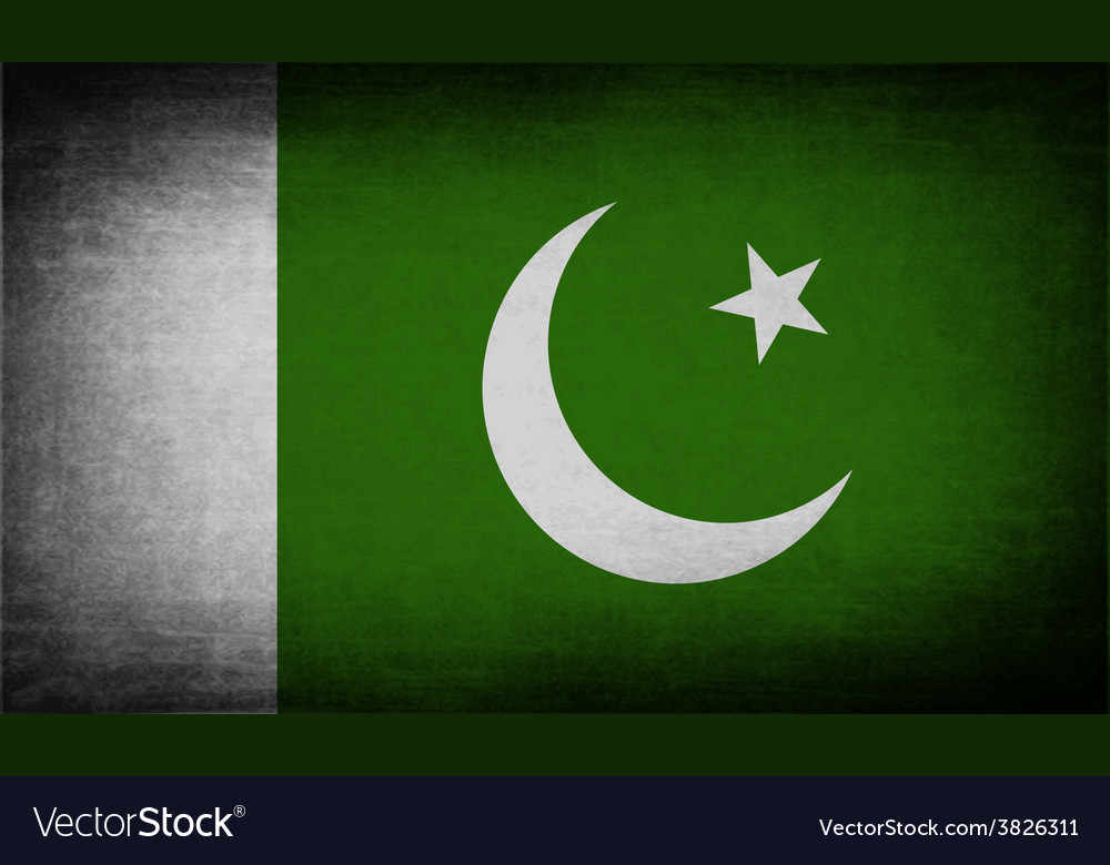 Flag of pakistan with old texture vector | Price: 1 Credit (USD $1)
