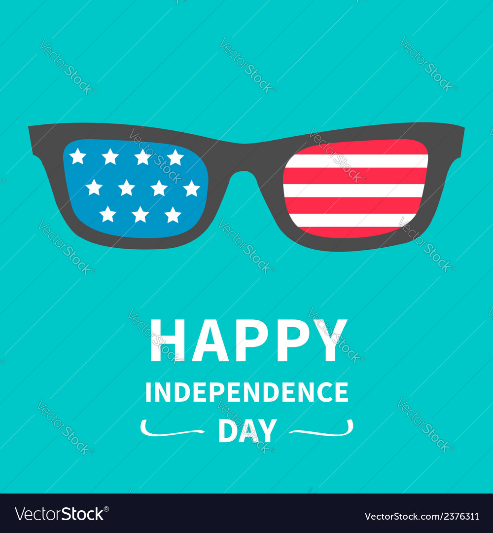 Glasses with stars and strips independence day vector | Price: 1 Credit (USD $1)