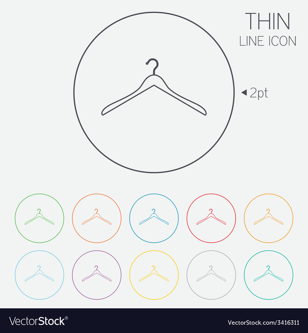 Hanger sign icon cloakroom symbol vector | Price: 1 Credit (USD $1)