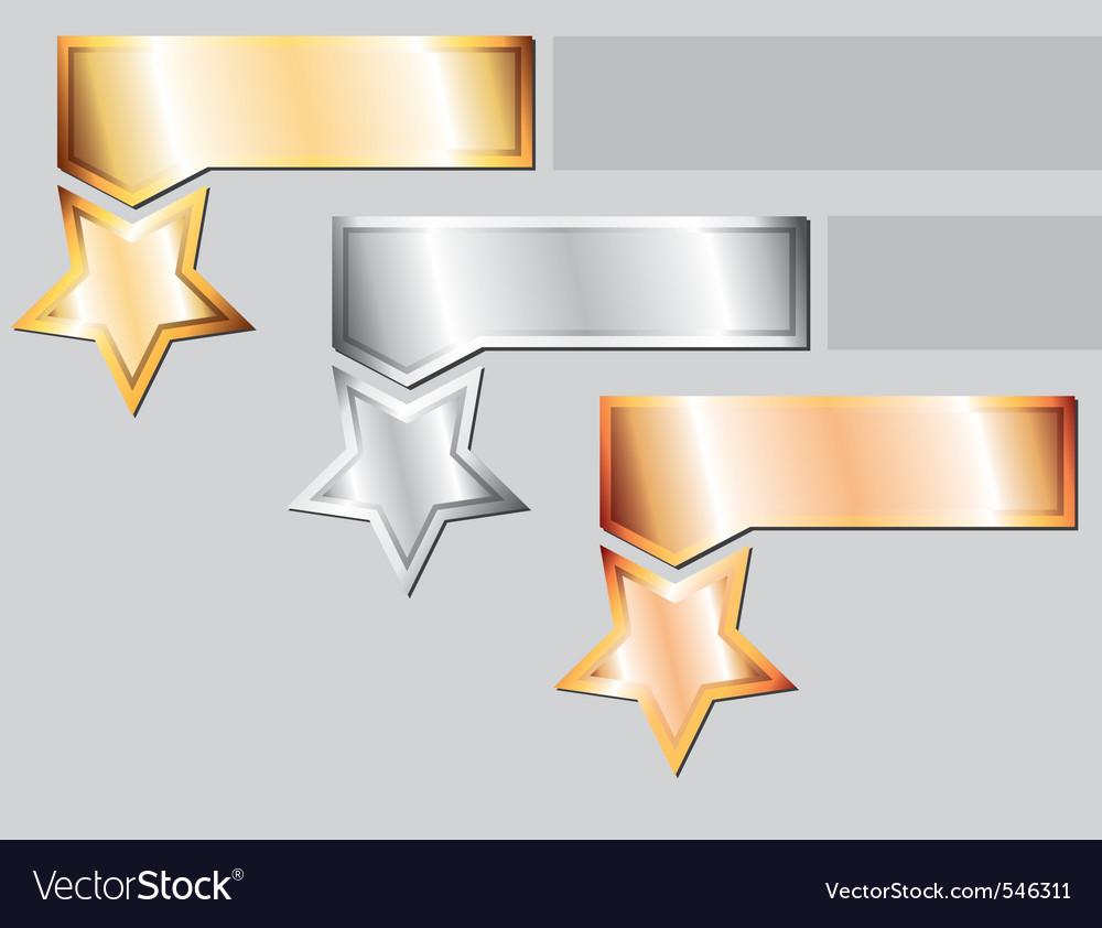 Metal stars vector | Price: 1 Credit (USD $1)