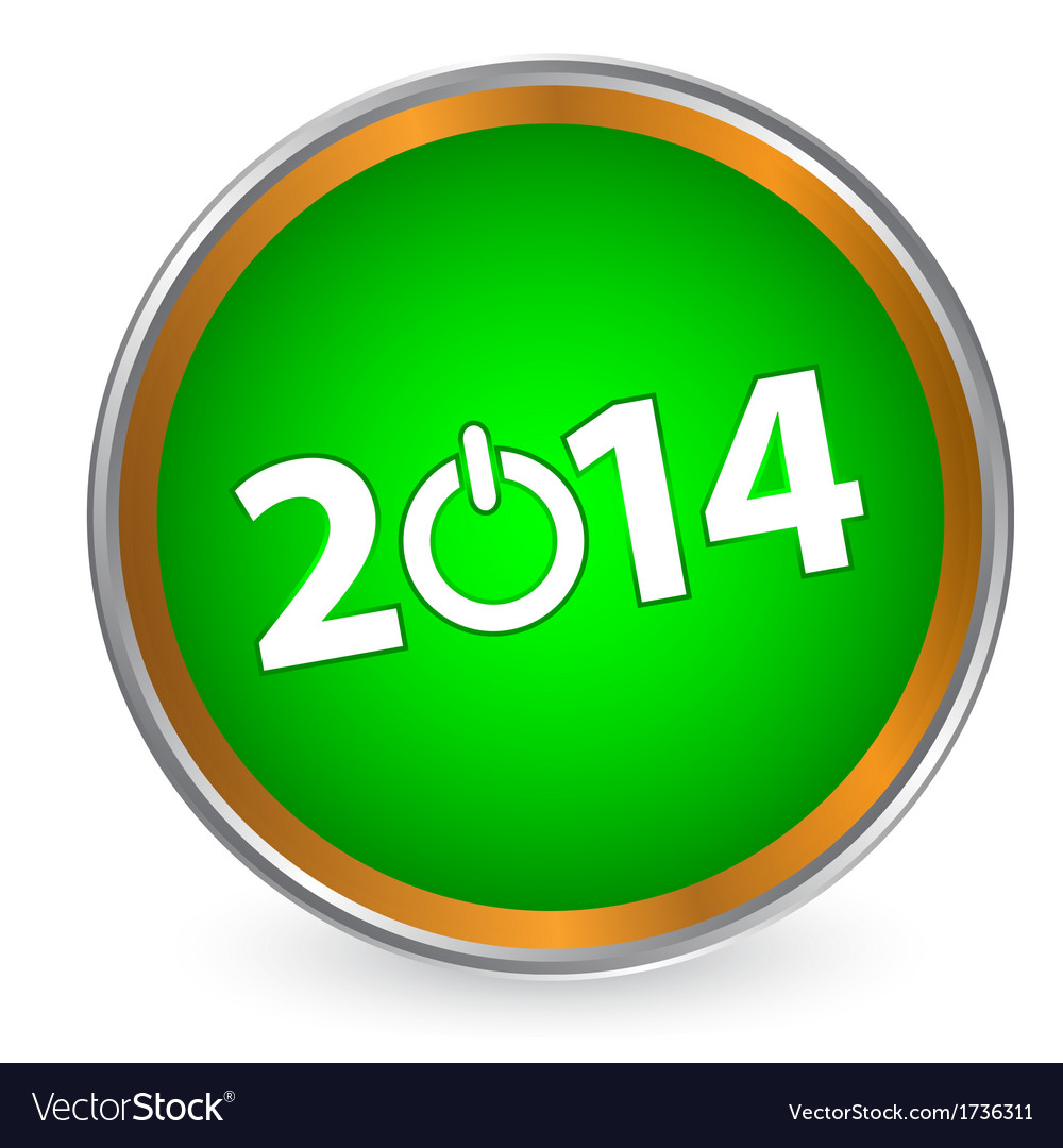 New year 2014 icon vector | Price: 1 Credit (USD $1)