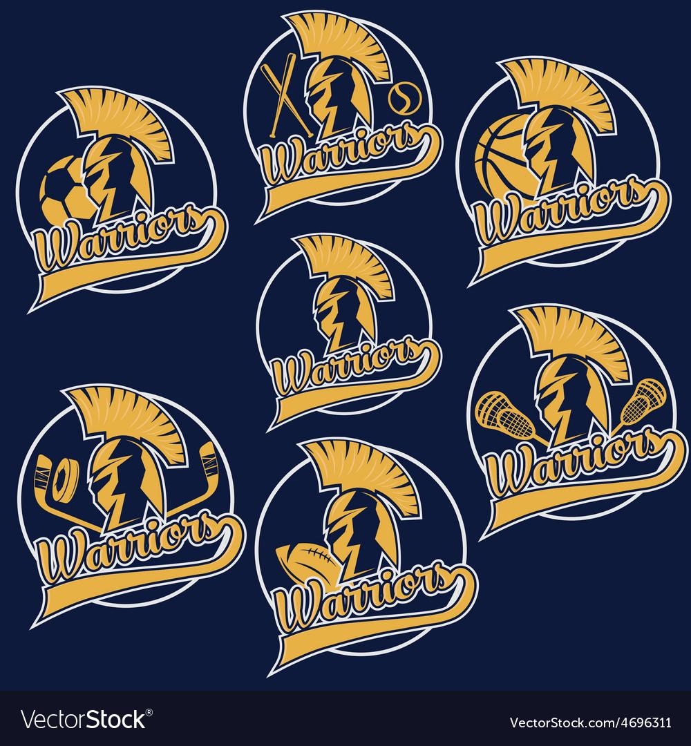 Spartan warrior as emblem of sports teams vector | Price: 1 Credit (USD $1)