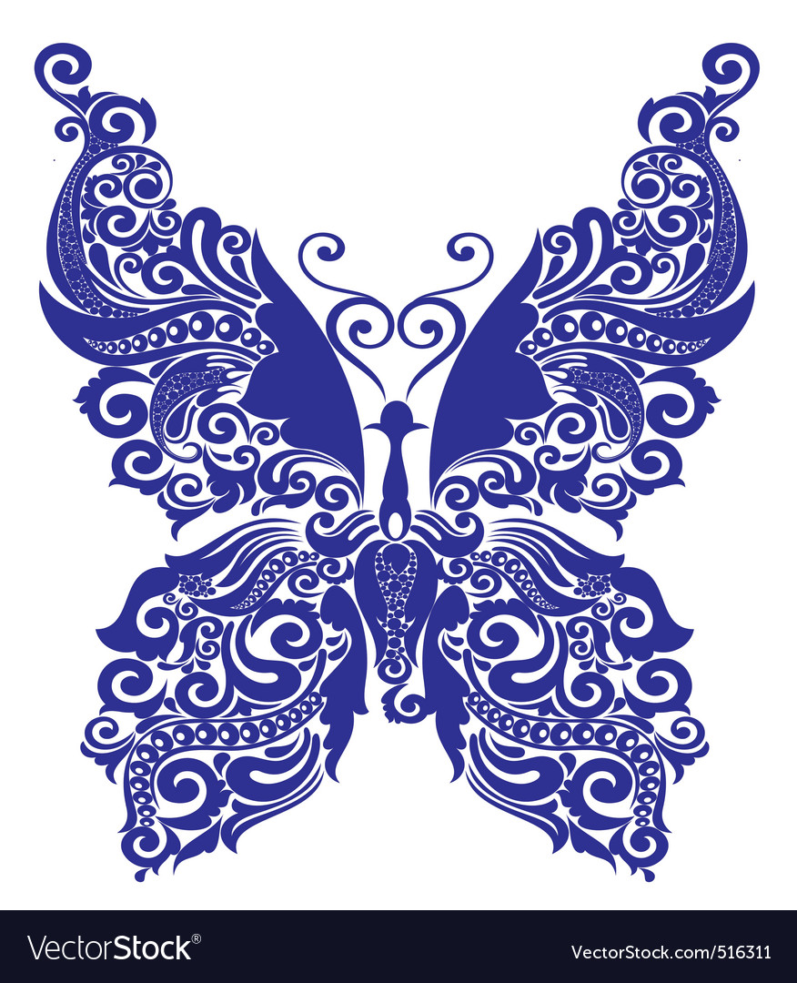 Tattoo butterfly vector