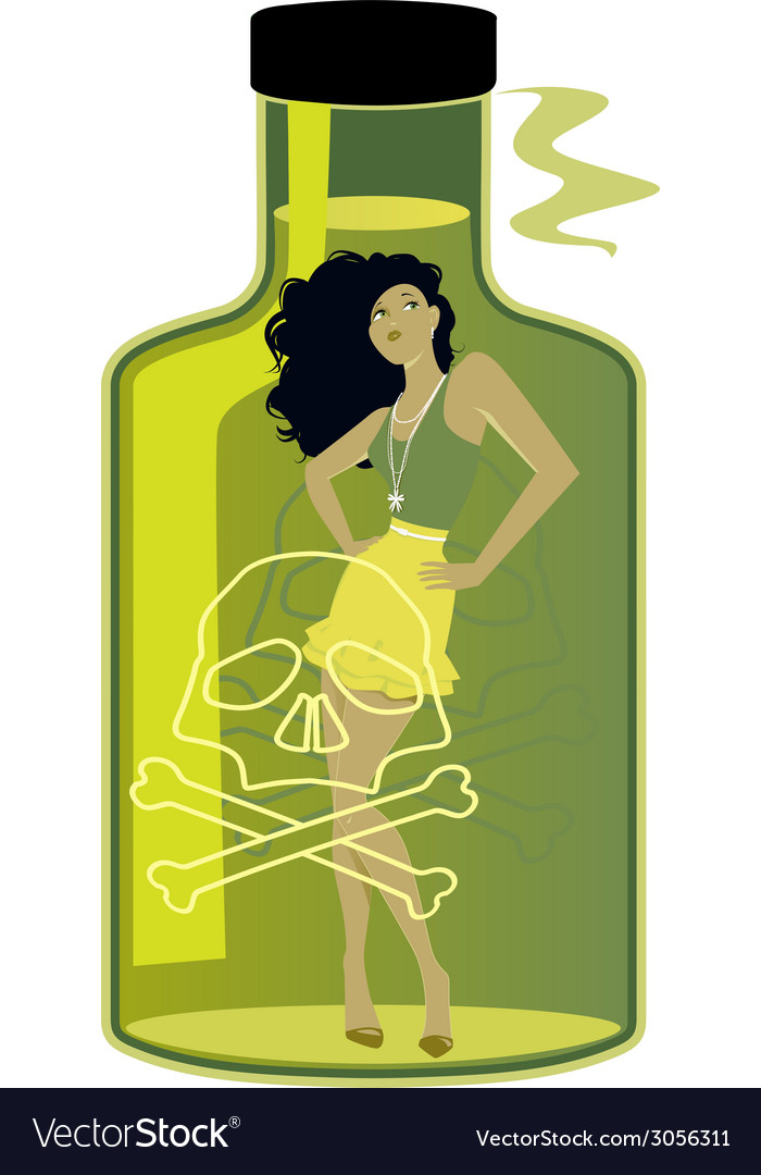 Toxic woman vector | Price: 1 Credit (USD $1)