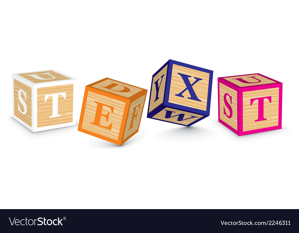 Word text written with alphabet blocks vector | Price: 1 Credit (USD $1)